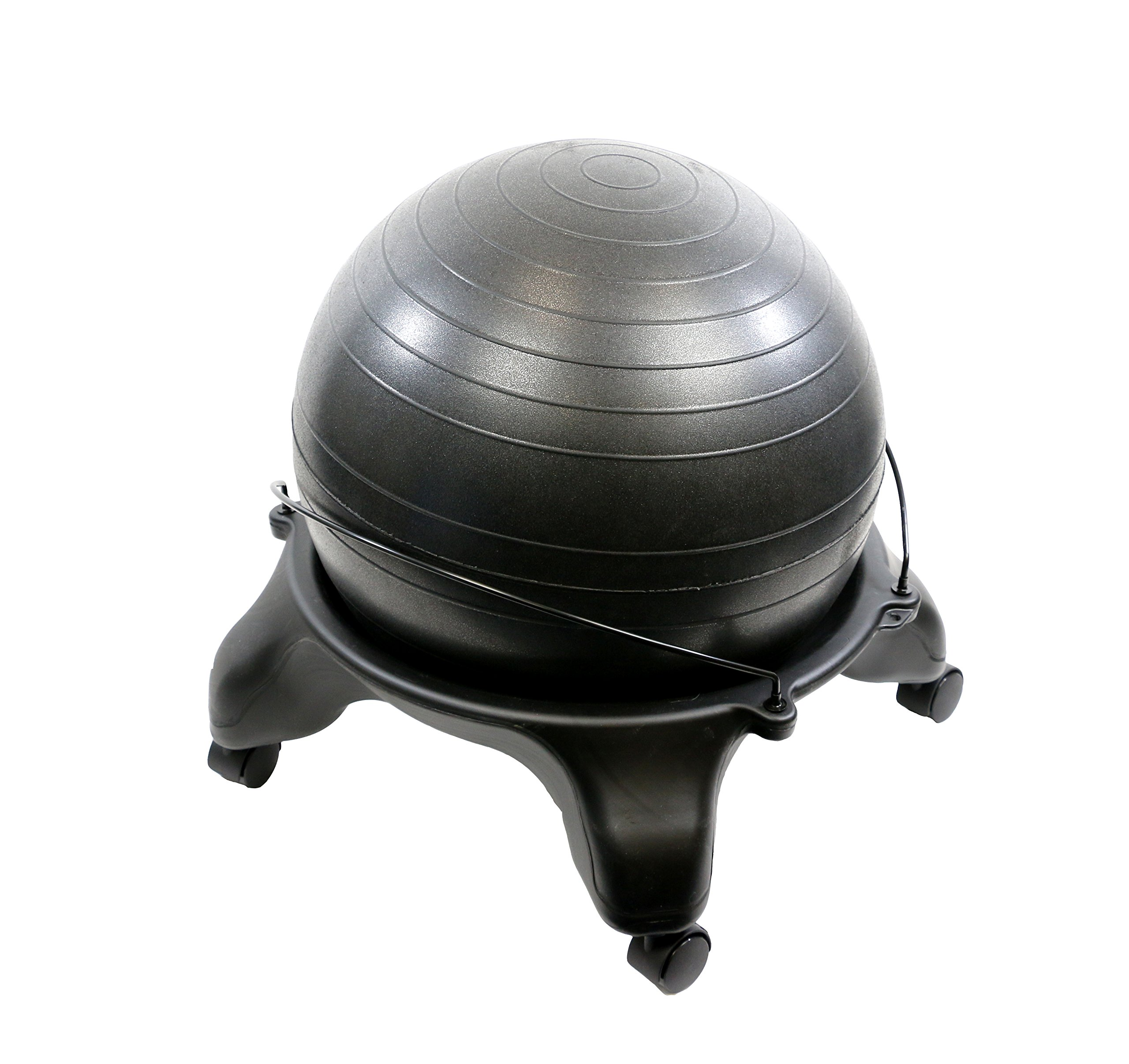 CanDo 30-1796 Ball Stool, Plastic, Mobile, No Back, Adult Size with 22'' by Cando