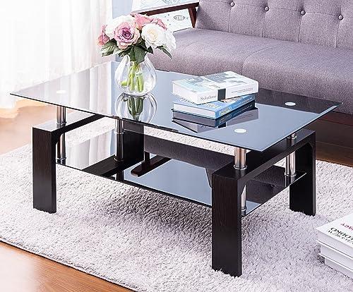 Merax Glass Coffee Table