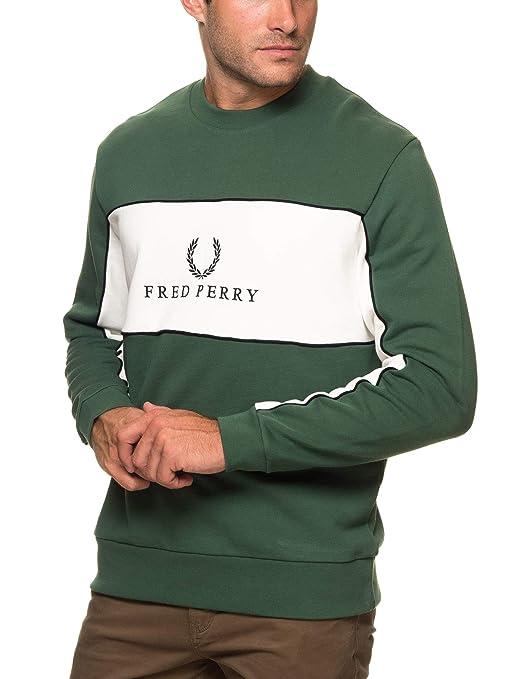 Fred Perry Panel Piped Sweatshirt, Sudadera: Amazon.es: Ropa y accesorios