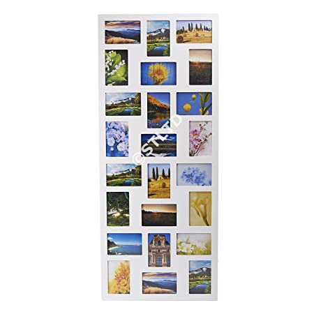 PHOTO PICTURE FRAME HOLDS 24 PHOTOS APERTURE MULTI FRAME COLLAGE ...