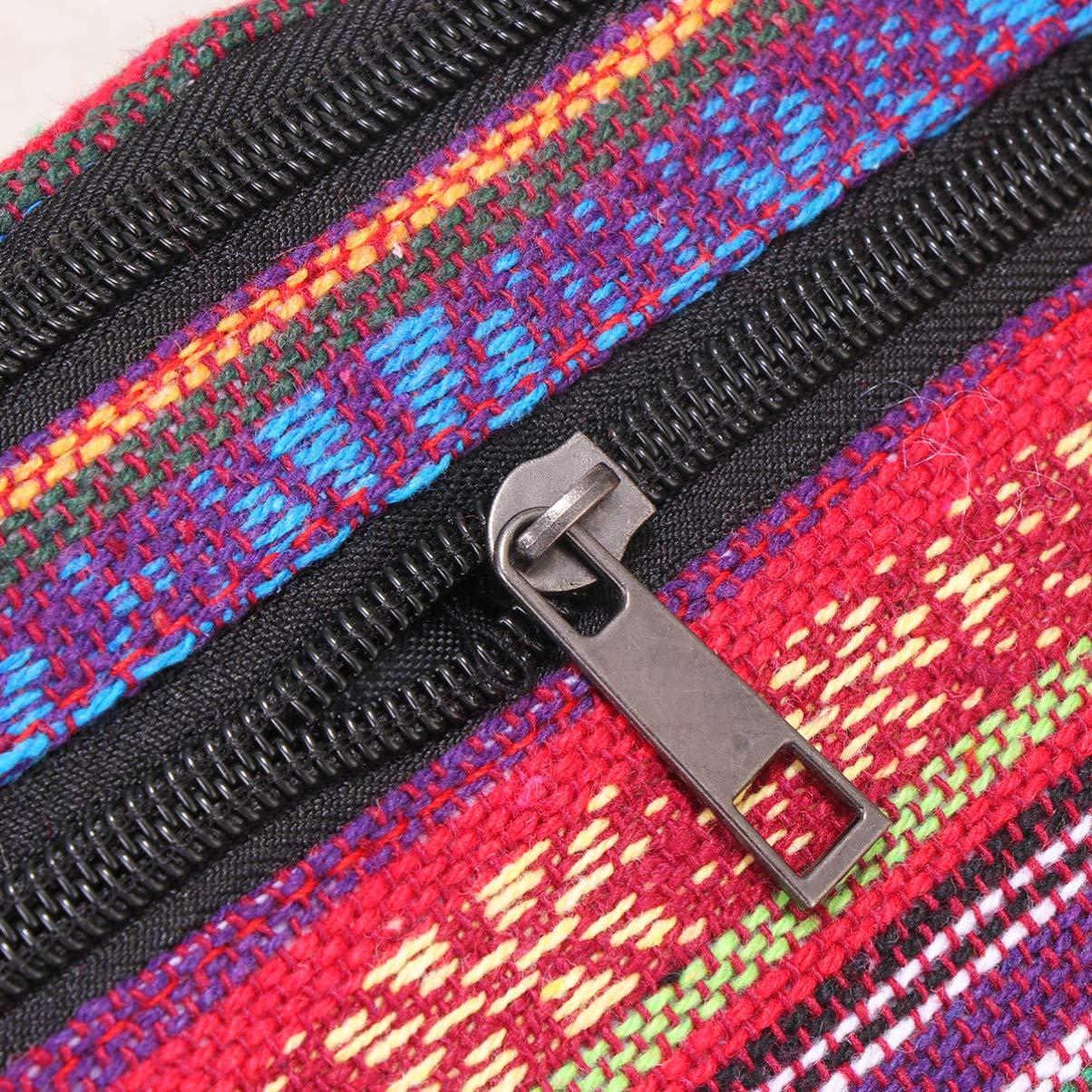 TENDYCOCO ri/ñonera Estilo /étnico Bolso de Cintura de Lona Estampada Bolso de Hombro Bandolera cintur/ón Monedero para ni/ña Mujer