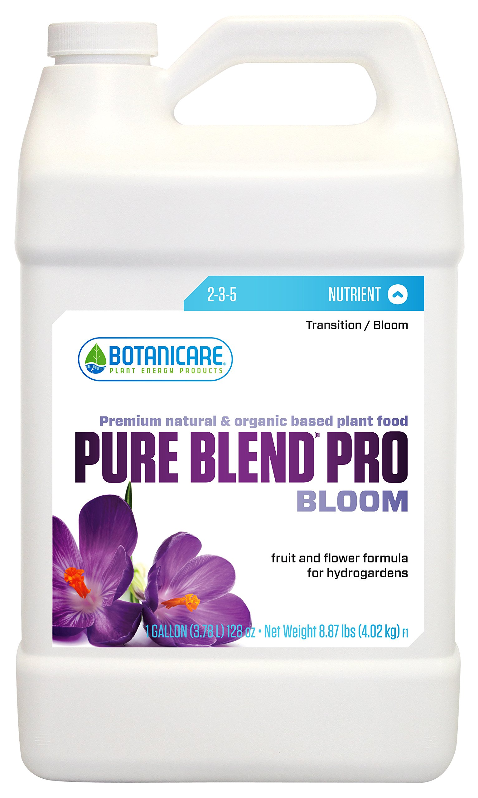 Botanicare PURE BLEND PRO Bloom Soil Nutrient 2-3-5 Formula, 1-Gallon (4-Pack)