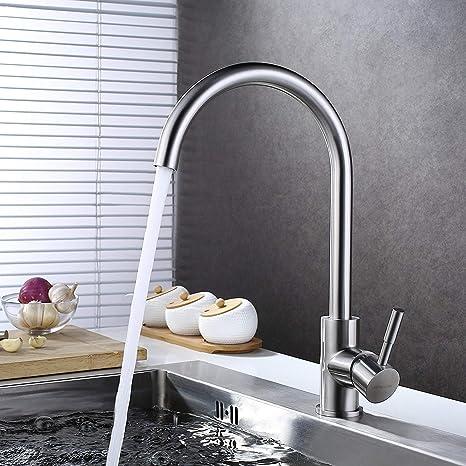 """Küchenarmatur Wasserhahn 3//8 /"""" Einhebelmischer Mischbatterie Spüle Armatur 360°"""