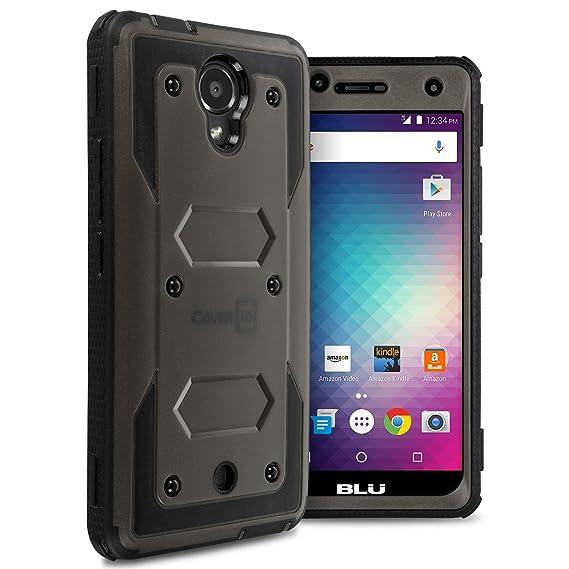 new style dea67 f6b75 BLU R1 HD Case, CoverON [Tank Series] Tough Hybrid Hard Armor Protective  Phone Cover Case For BLU R1 HD 5.0