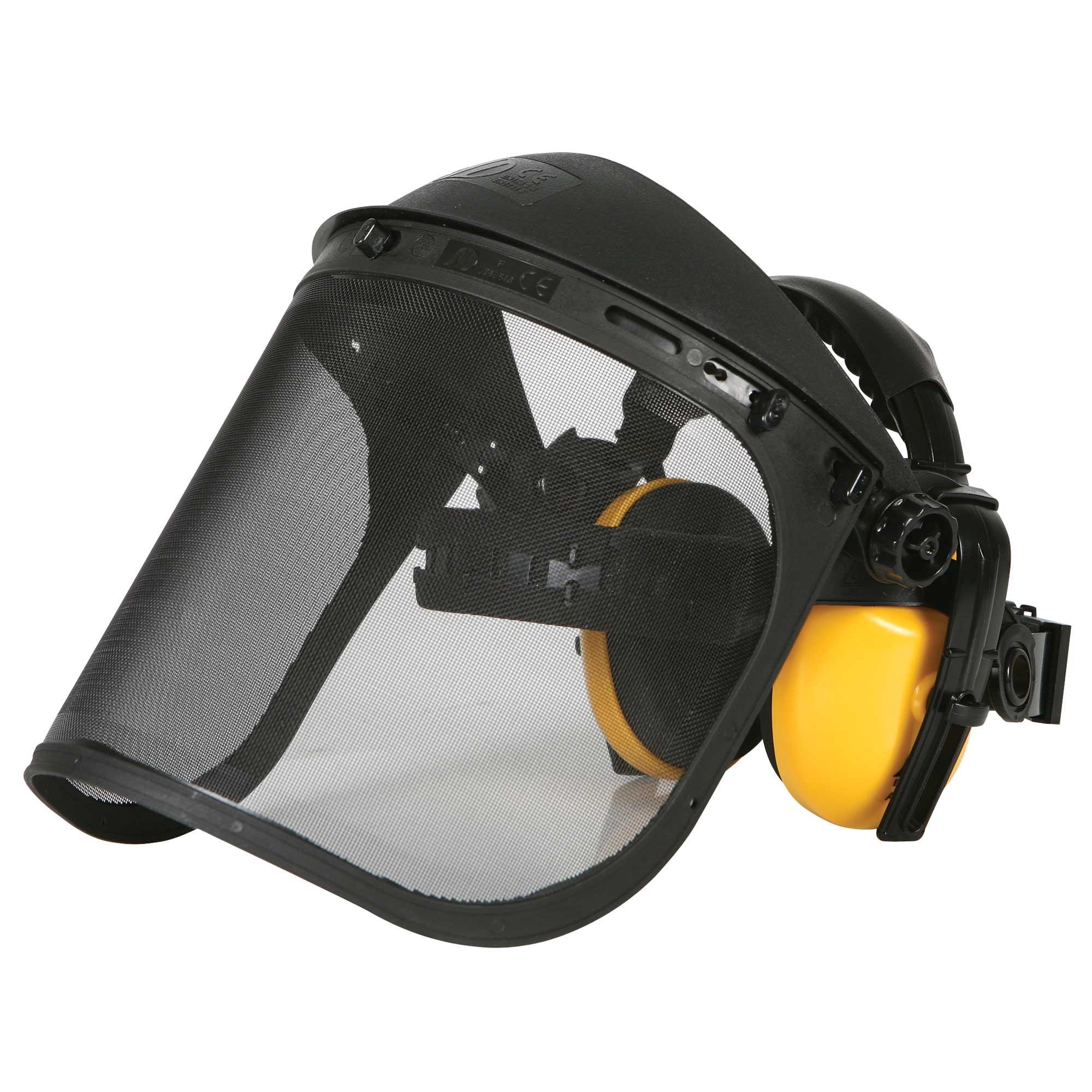 Mesh Face Shield and Hearing Protector