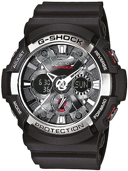 cdc389269561 Casio Reloj Analogico-Digital para Hombre de Cuarzo con Correa en Resina  GA-200-1AER  Amazon.es  Relojes