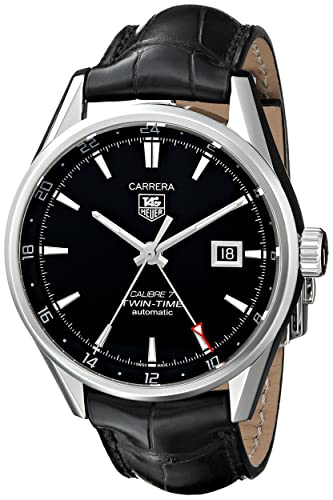 Reloj Carrera Twin Time Tag Heuer hombre WAR2010.FC6266 color negro: Amazon.es: Relojes