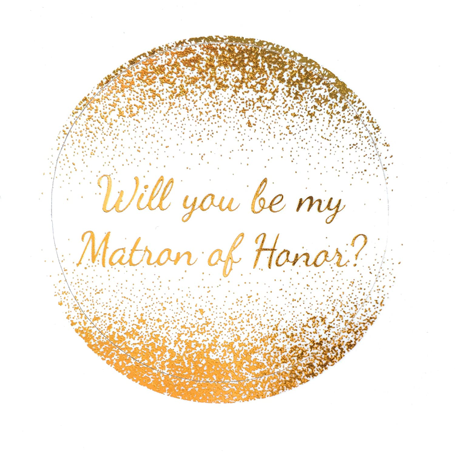 Amazon com metallic bridal party proposal stickers will you be my matron of honor maid of honor and bridesmaid wedding party gift gold stickers