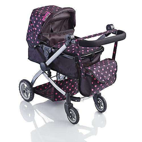 Molly Dolly Babyboo Deluxe 2 in 1 Doll Stroller/Pram