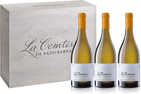 La Comtesse Albariño 2016, Caja Madera 3 botellas 0,75L - 750 ml x 3: Amazon.es: Alimentación y bebidas