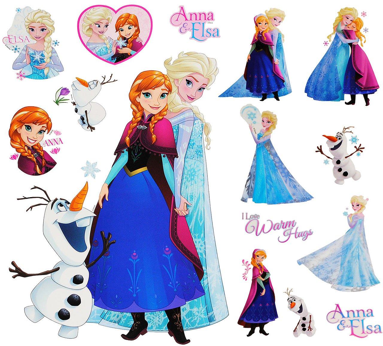 Unbekannt 15 tlg. Set _ Wandtattoo / Sticker + Fensterbilder - Disney die Eiskönigin -.. Kinder-land