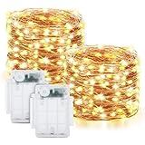 Maxsure Guirnalda Luces Pilas, 12M 120 LED, Luces LED Pilas 2 Pack, Luces Navidad con 8 Modos de Luz Decoración para…