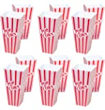 "Set of 12 Popcorn Plastic Container Box Tub Bowl 7-3/4"" x 3-3/4"" x 3-3/4"" - Presentation Is Everything"