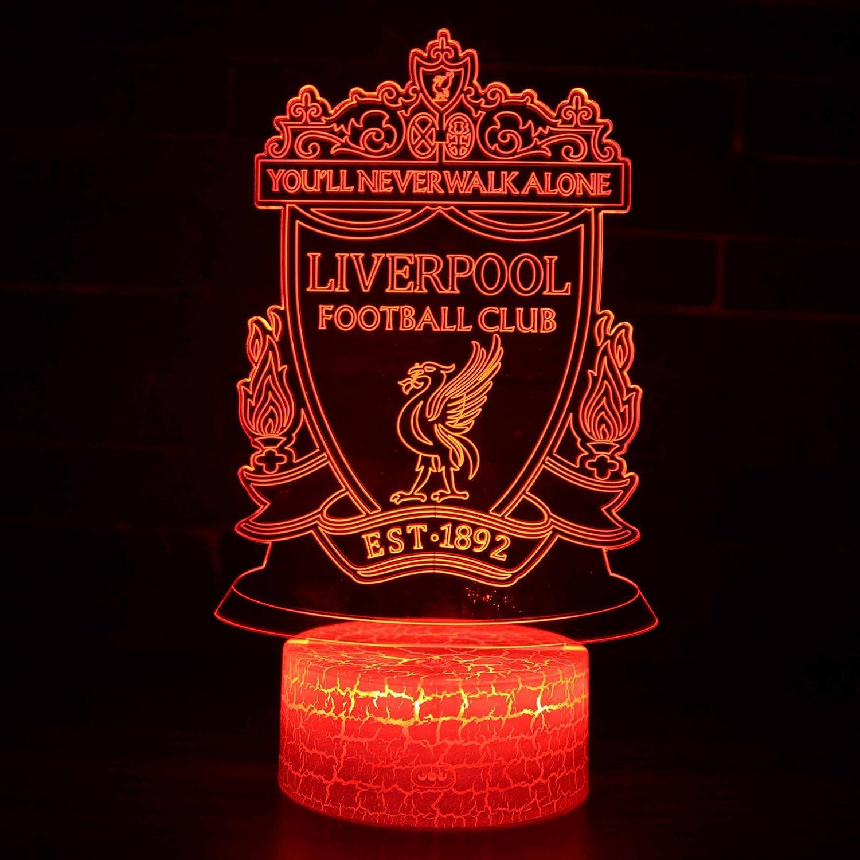 LED Premier League Football Team Club 3D - Lámpara de mesa ...
