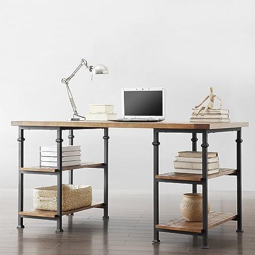 Metro Shop TRIBECCA HOME Myra Vintage Industrial Modern Rustic Oak Storage Desk-Myra Desk