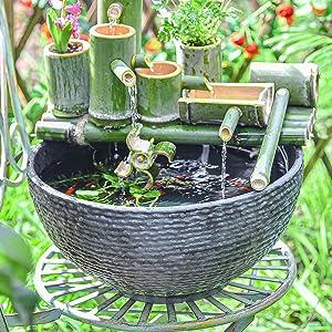 Sungmor Hydroponic Planter Large Garden Bowl Micro Landscape Succulent Pot - 15.6