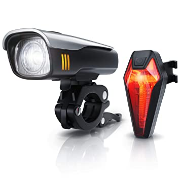 Juego de Luces LED para Bicicleta con batería, StVZO, Juego de ...