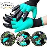 Garden Genie Gloves - Homeme Gardening Gloves With Claws for Digging & Planting - 2 pairs