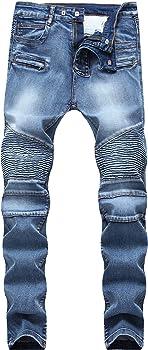 Amazon.com: Longbida - Pantalones vaqueros para moto ...