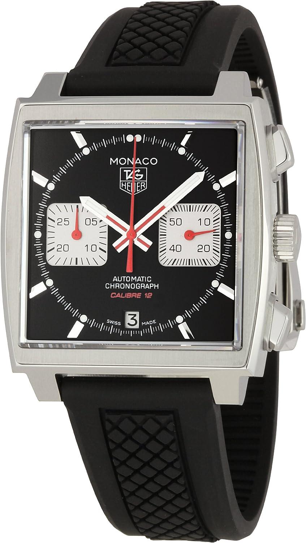 TAG Heuer Men s CAW2114FT6021 Monaco Black Dial Watch