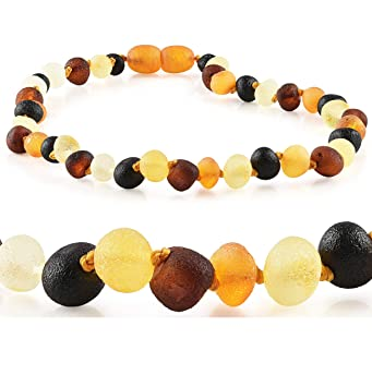Healing Baltic Teething Necklace Certified Raw Unpolished Cherry Safety