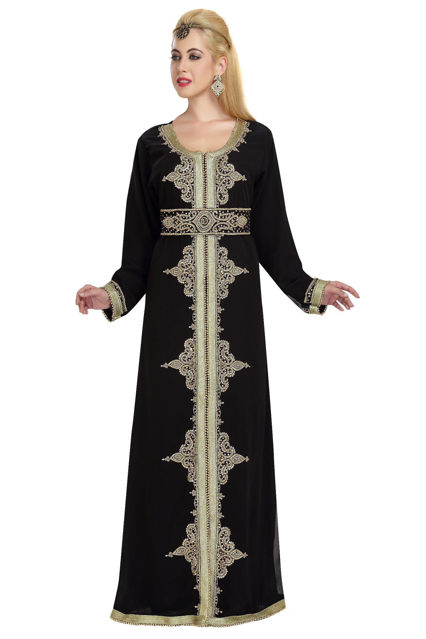 Arabian Evening Wear Abaya Caftan For Regular Use By Maxim Creation 5872 (4XL)