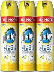 Pledge Lemon Clean Furniture Polish, 3 pk./14.2 oz.