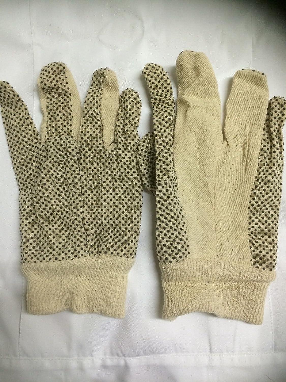 Polka Dott Cotton Work Gloves x 12 pairs - Gardening , warehouse etc Emetts