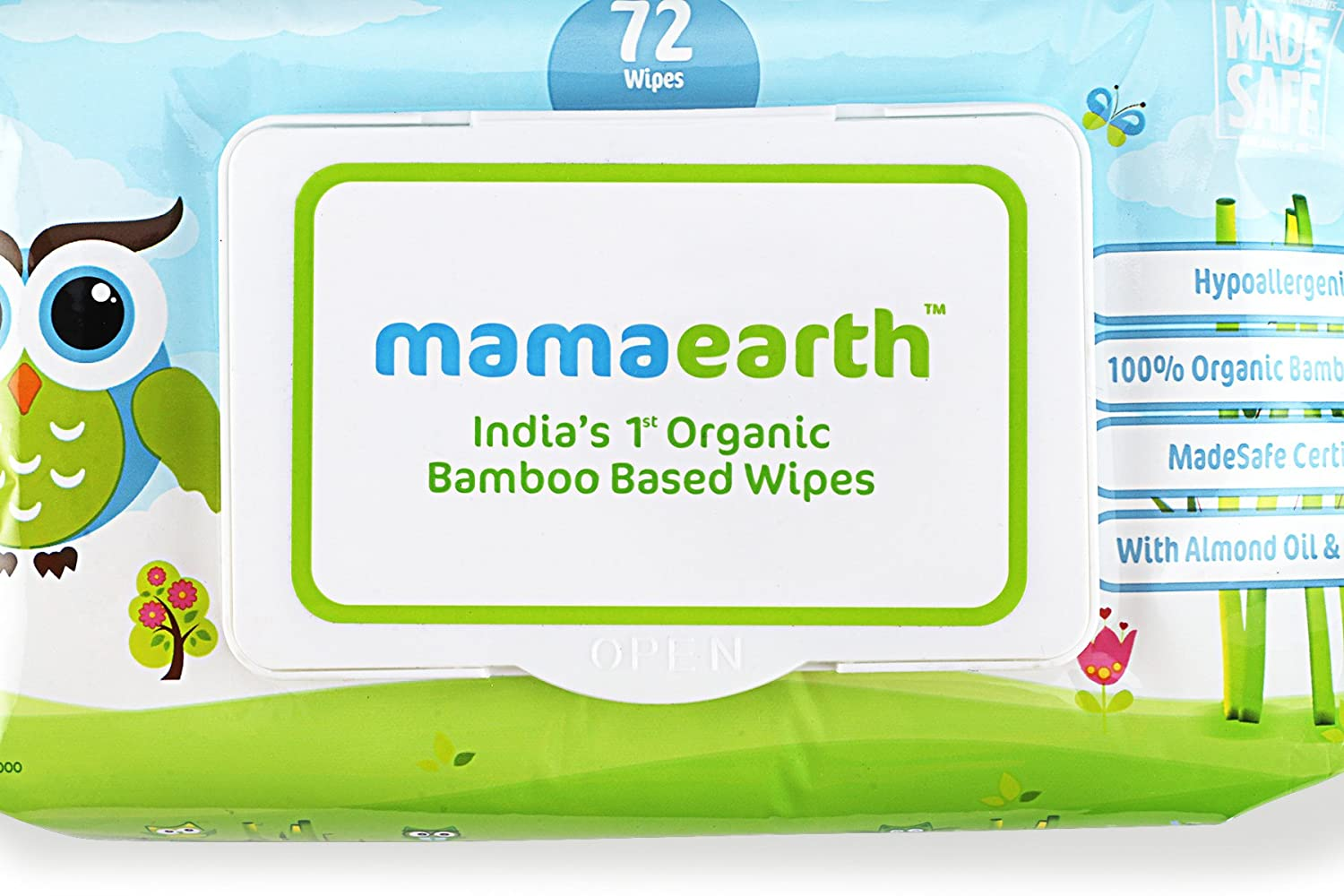 Buy India'S First Organic Bamboo Based Baby Wipes (72 Wipes) Online at Low  Prices in India - Amazon.in