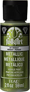 product image for FolkArt Metallic Acrylic Paint in Assorted Colors (2 oz), K671, Peridot