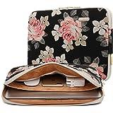KAYOND Rose Pattern Water-resistant 15.6-17 Inch Laptop Sleeve Case Bag (17 Inch, Black Rose)