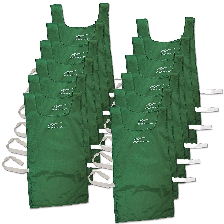 アゴラナイロンエプロンドレスwith Velcro – 12のセット B00MFW0HVI グリーン グリーン