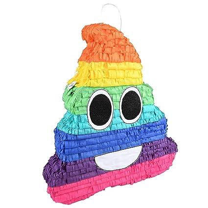 Amazon.com: Rainbow Poo Emoji Pinata: Toys & Games