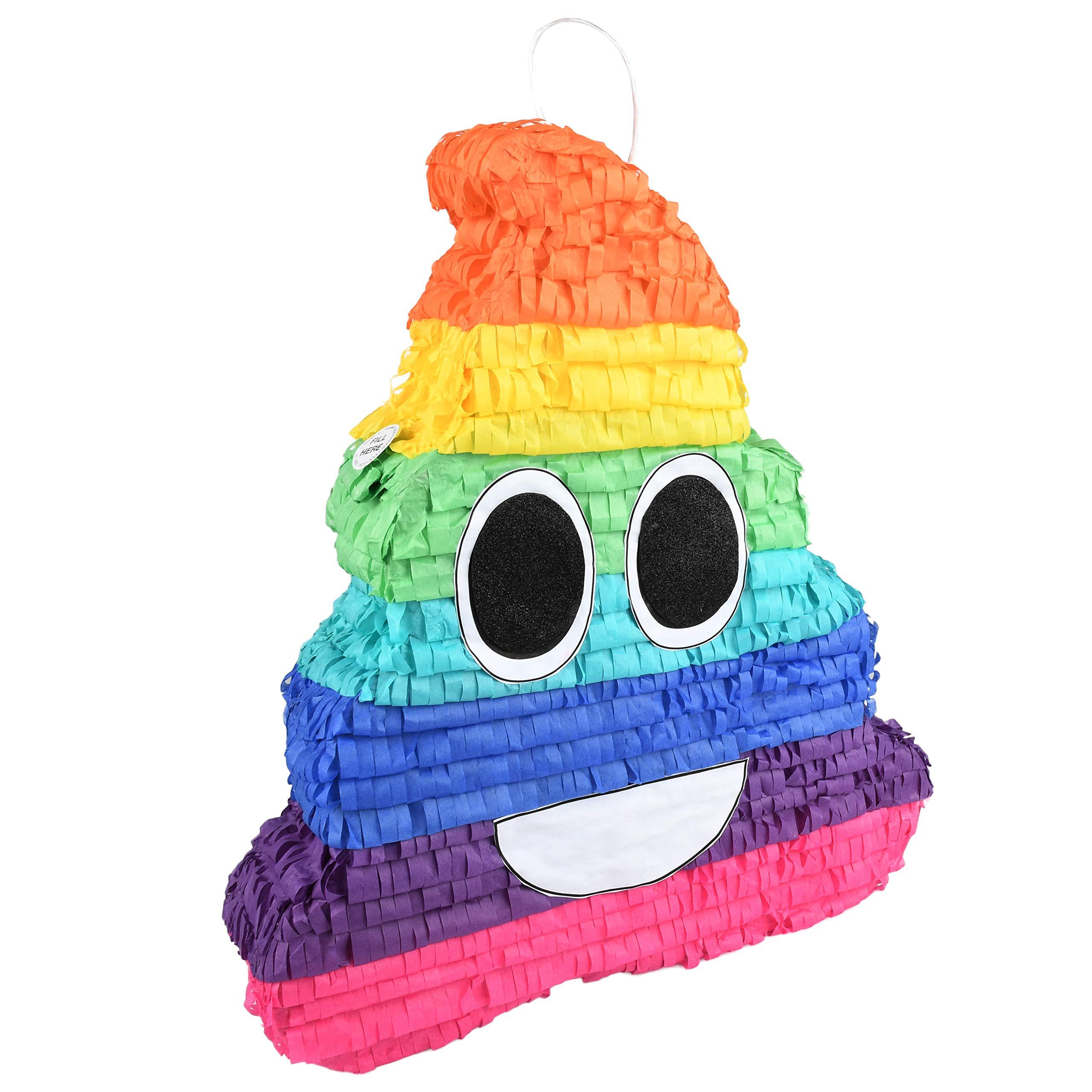 Rainbow Poo Emoji Pinata