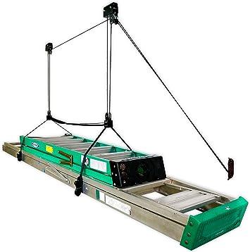 Escalera de almacenamiento de techo Hoist, estante de polea para colgar en casa y garaje: Amazon.es: Amazon.es