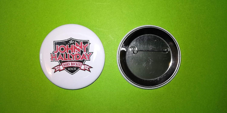 BLUE HAWAI BA1040 / Transport Offert/Badge 56 MM/Neuf/Johnny HALLYDAY Born Rocker