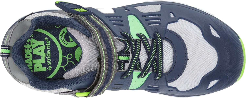 Grey//Blue Stride Rite Boys Made2Play Ashton Sneaker