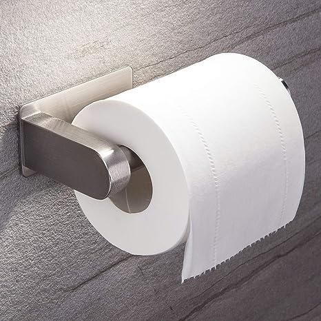 Aikzik® Distributeur Papier Mural WC Salles de Adhésif Porte Papier Toilette