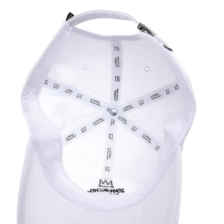 c30e2d5b4e2 WITHMOONS Baseballmütze Mützen Caps Baseball Cap Jean-Michel Basquiat Crown  Embroidery CR1703 (White)  Amazon.de  Bekleidung