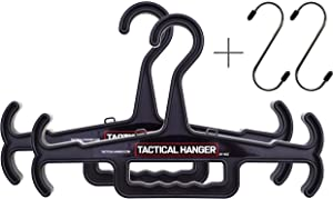 Tactical Hanger by HICE   Set of 2   Original Heavy Duty Hanger   200 lb Load Capacity   Durable High Impact Resin   for Body Armor, Police Gear, Military Gear, Survival Gear and Equipment (Black)