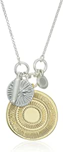 Lucky Brand Hammered Coin Charm Pendant Necklace