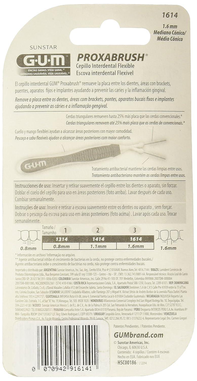 Amazon.com: GUM Proxabrush Trav-ler - Characteristic: 1614: 1,6 mm: Health & Personal Care