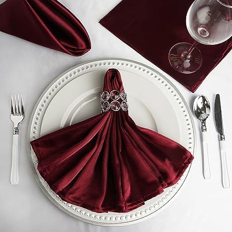 "Black 20/""x20/"" inch Polyester Cloth Napkin Wedding Linen Restaurant Diner bd"