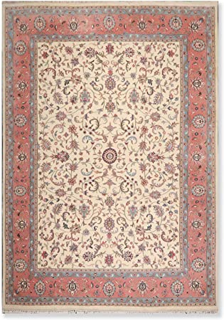 9 1 X12 5 Ivory Pink Blue Black Green Brown Rust Multi Color Hand Knotted Persian Oriental Area Rug 100 Wool Traditional Superfine Design Oriental Rug Orh10802 Amazon Co Uk Kitchen Home