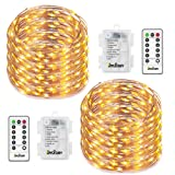 Amazon Price History for:2 Set Fairy Lights 8 Modes String Lights Battery Operated Twinkling 50 LEDs Fairy String Lights 16.4FT Copper Wire Firefly Lights Remote Control for Bedroom Wedding Festival Decor(Warm White)