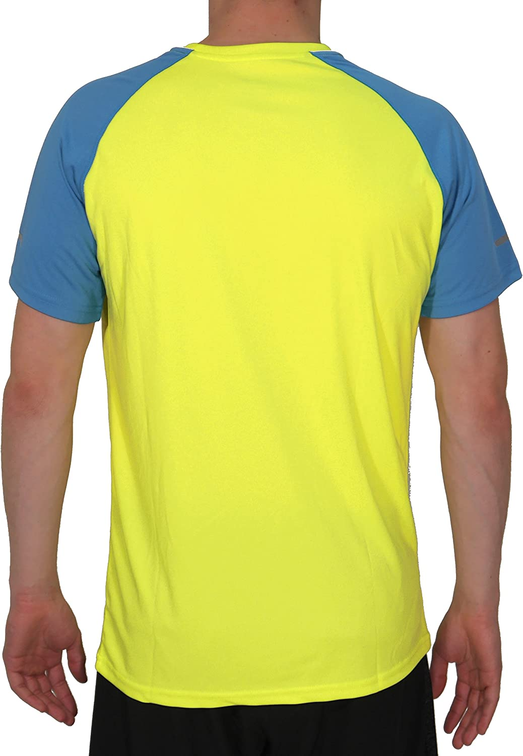Yellow-L More Mile Tempest Cool Performance Mens Running Top