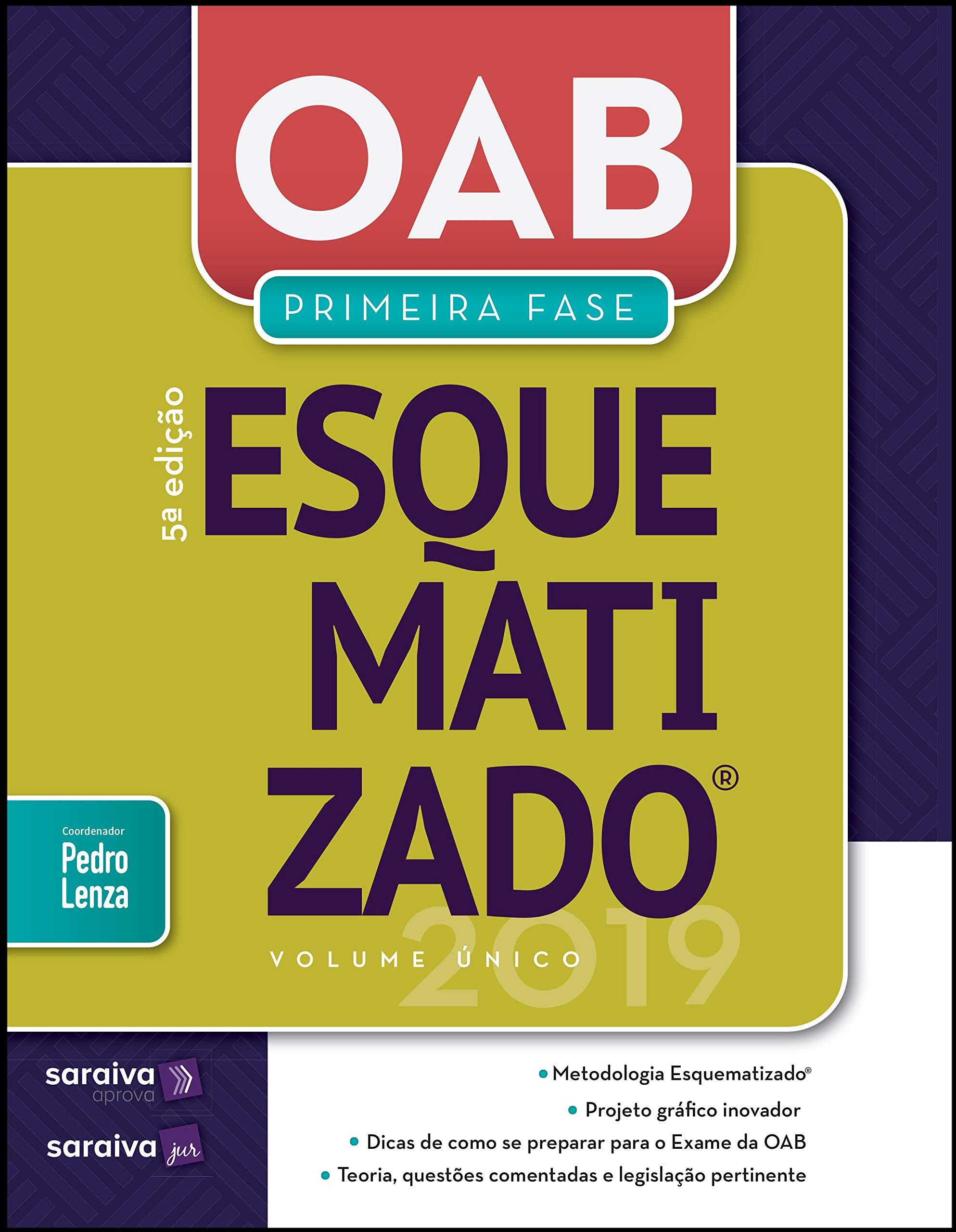 Oab Esquematizado Volume único 1ª Fase 5ª Edição De