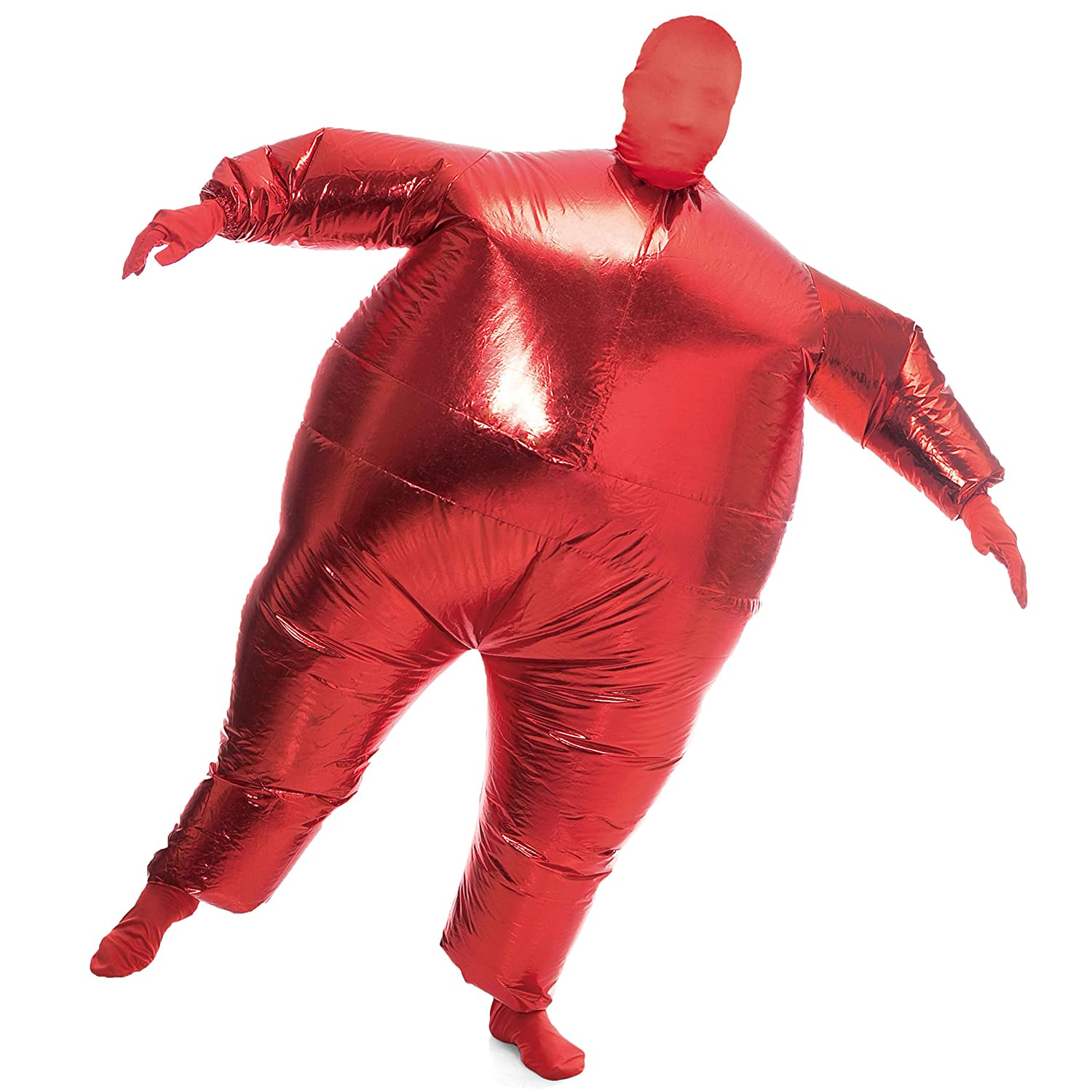 Spooktacular Creations Inflatable Costume Full Body Suit Halloween Costume Metallic Shiny Adult Size