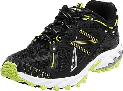New Balance Women's WT610 Trail Running Shoe,Black/Green,5.5 ...