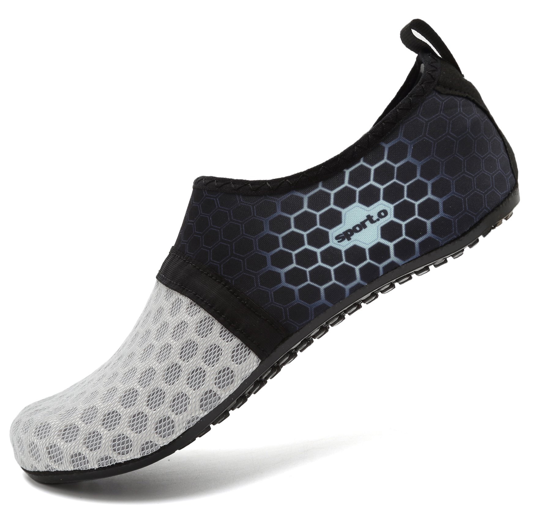 AoSiFu Women's Men's Water Sports Shoe Swim Footwears for Surf Yoga Aerobics L-Gray 38-39